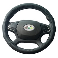 genuine leather steering wheel cover from china factory