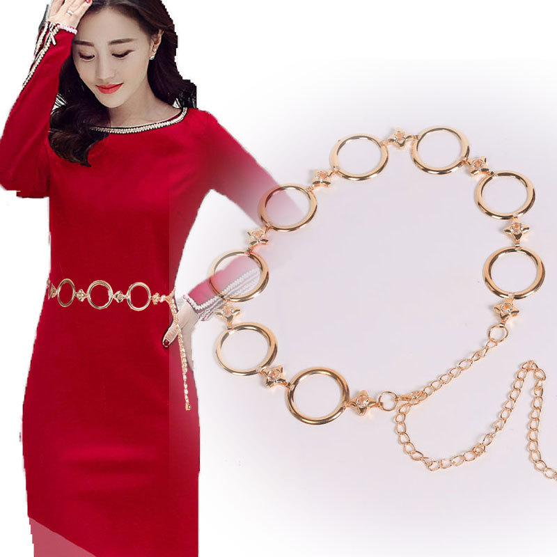 Circle Metal Belt Women Personality With Skirt Decorative Waist Chain