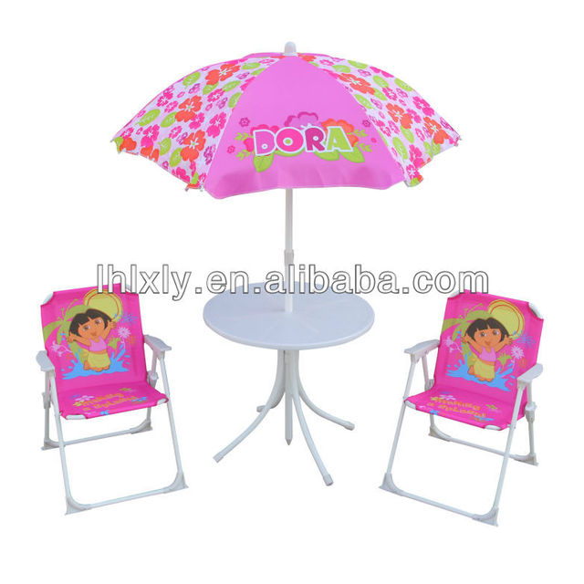 Dora Kids Patio Set Outdoor Furniture Table And Chairs