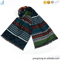 Classic fashion cashmere city men scarf customized
