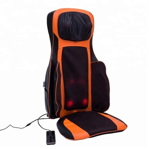 LY-718A China best 3d heated shiatsu electric back thai chair pad seat massager with adaptor