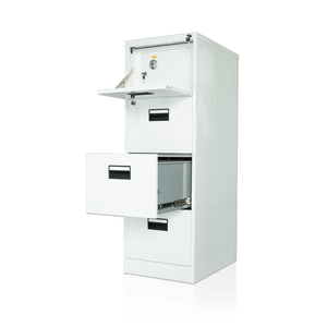 Metal Vault 4 Drawer Legal Size File cabinet Filing Cabinet With Safe Box
