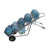 High Steel Foldable Trolleys for 5 Gallon Bottled Water Hand Truck