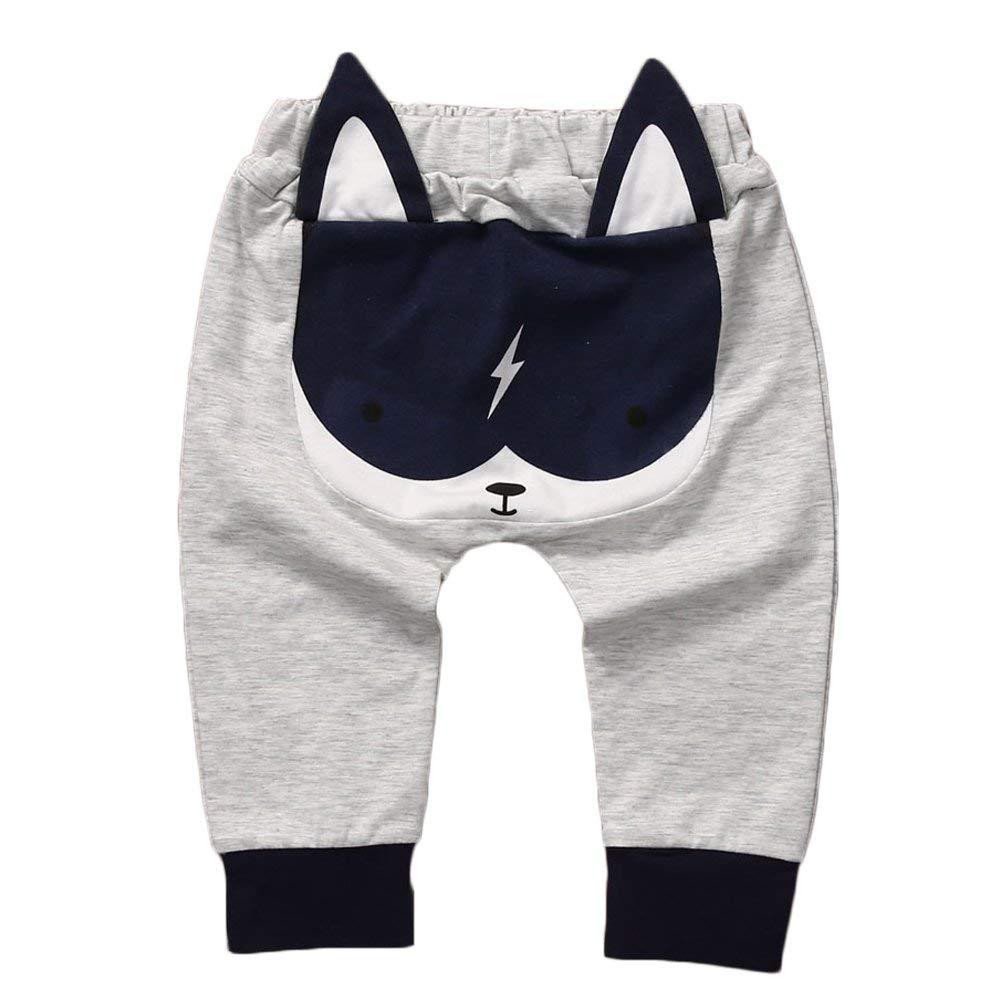 Baby Boys Girls Cartoon Animal Print PP Pants Long Harem Pants