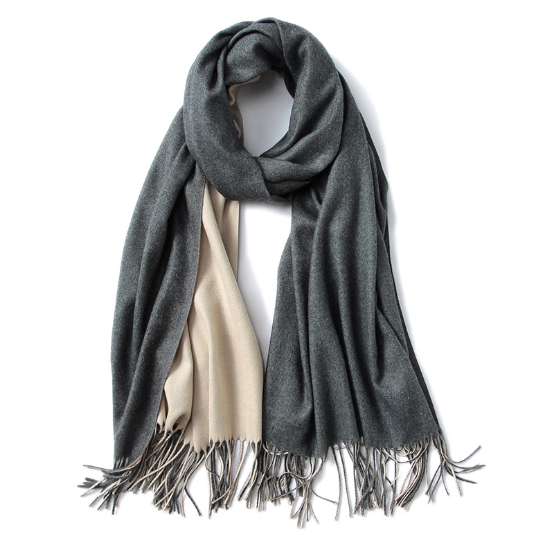 New Products Fashion Tassel Double Side Solid Color Winter Scarf Shawl Wholesale Pashmina Wraps Cashmere India