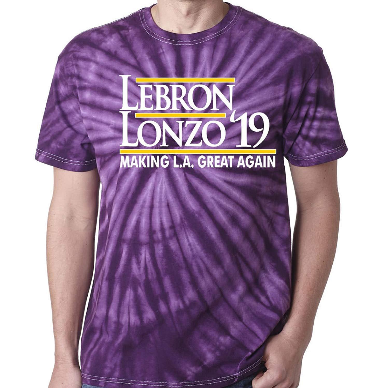85cc51fb6fe0 Get Quotations · WB SHIRTS TIE-DYE Purple Los Angeles Lebron Lebron Lonzo 19
