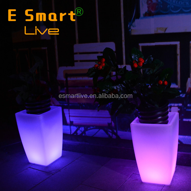 Mini Plastic Injection Mould Led Flower Pots Light Up Pots Lighting Pot