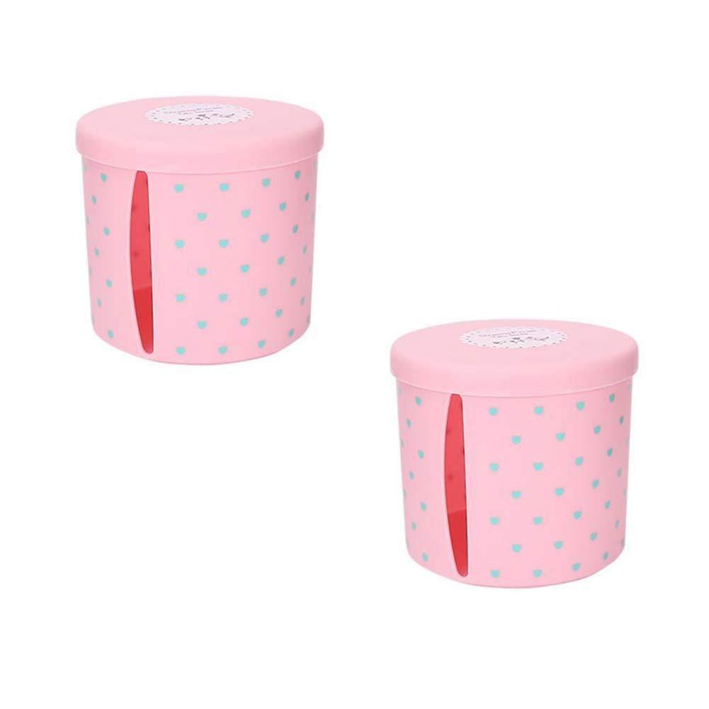 ANQI Pumping Tray Plastic Tissue Box Round Tissue Box Cover Holder Towel Tube Tissue Dispenser Cover Napkin Holder 2PCS