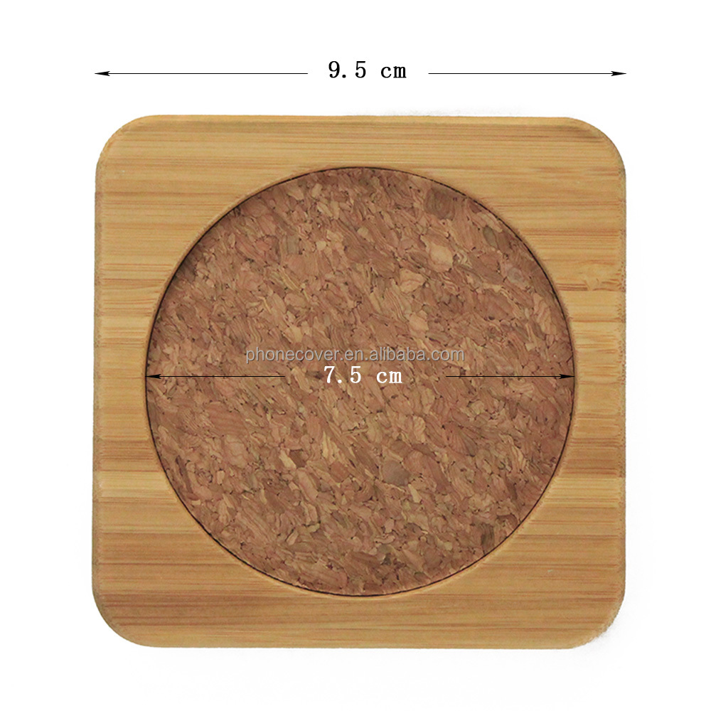 Wood Cup Holder Supplier Wooden Bamboo Cork Pallet Coaster for Agate Glass Cup Lid Stand Bulk Buy from China Manufacturer