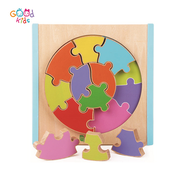 wooden preschool toys jigsaw learning puzzle