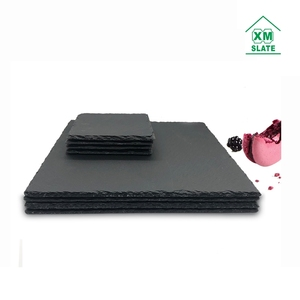 [factory direct ]Quality guarantee wholesale amazon ebay 30x30CM slate cheese plate cheese board slate plate slate stone plate