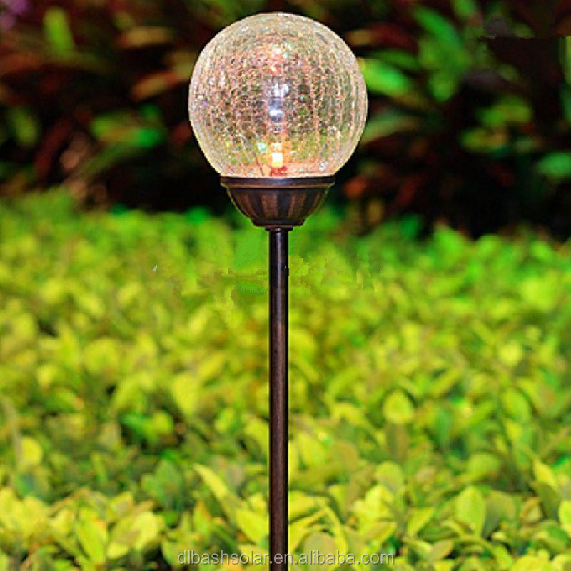 Solar Garden Lights Glass Home Decor