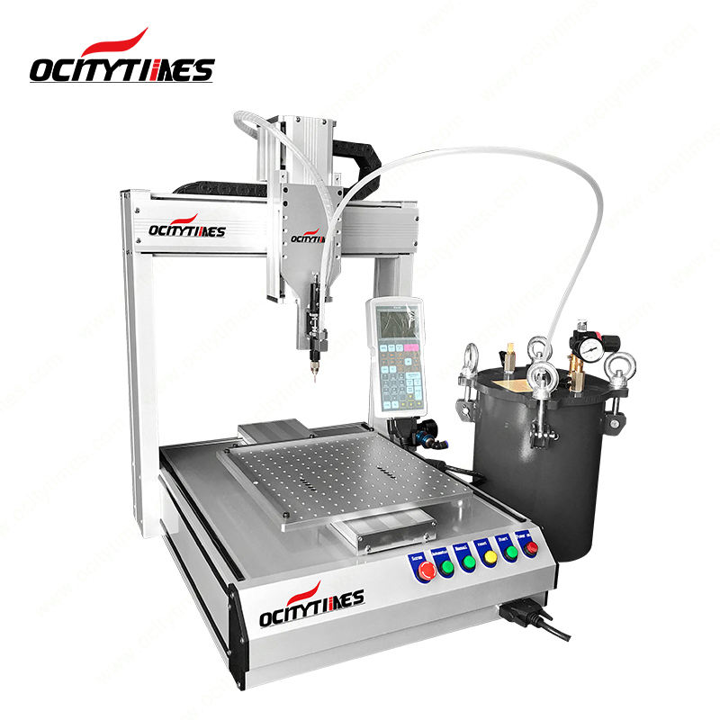 Heating system Ocitytimes F1 cbd capsule/thick oil/glass syringe filling machine with high accuracy