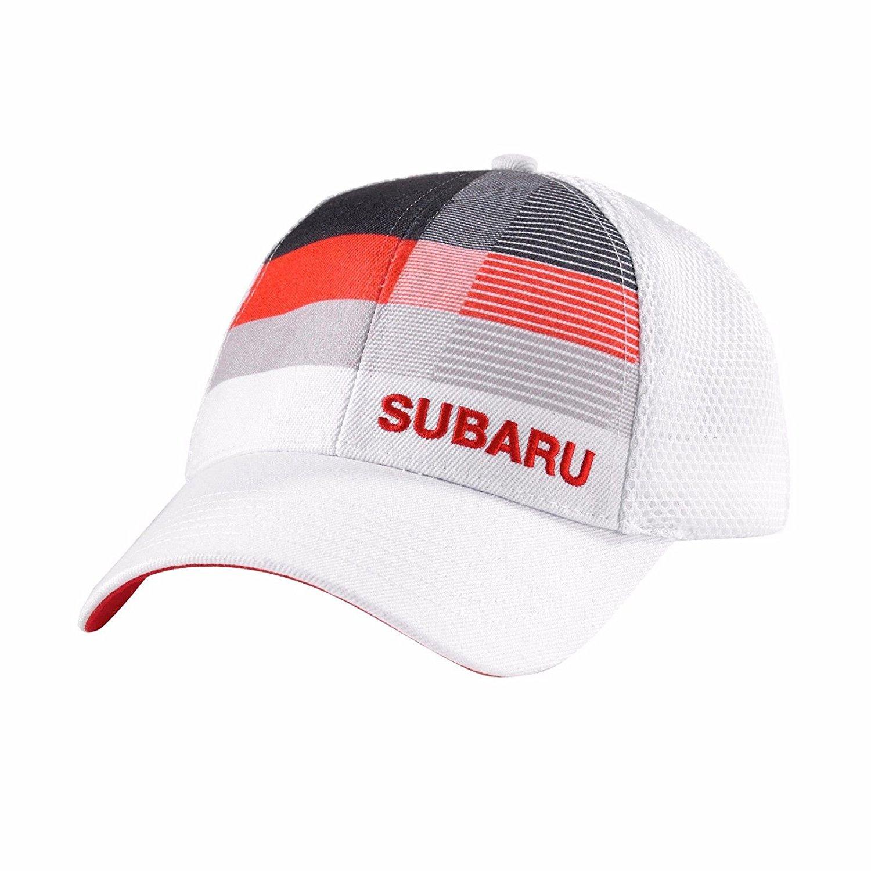 Get Quotations · SUBARU Mesh Stripe Cap Hat Genuine Legacy Forester Impreza  Outback Sti Wrx New 34746a844062