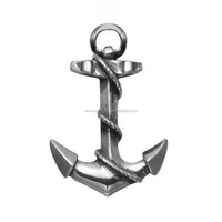 Small antique silver nautical anchor pendant nvay charms jewelry