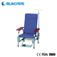 Hospital Backrest adjustable comfortable hospital used infusion chair with IV pole