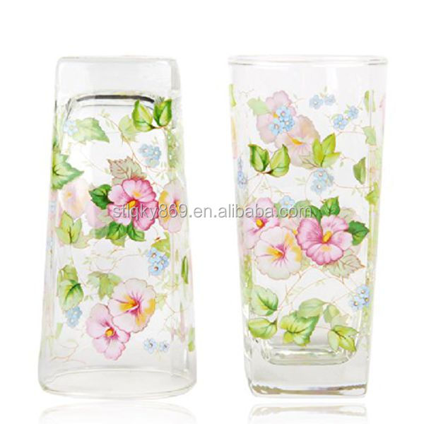 drinking wine glasses 350ml square drinking glass