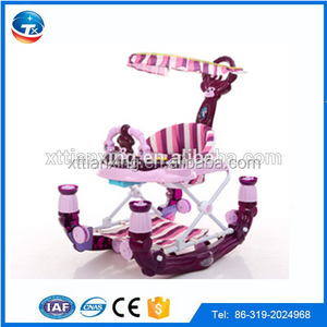 Alibaba online wholesale 2 in 1 baby walker with music and light / New model baby walker with brakes for sale