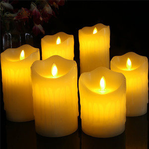 Flameless LED Candles Real Drip Pillar Wax with Remote