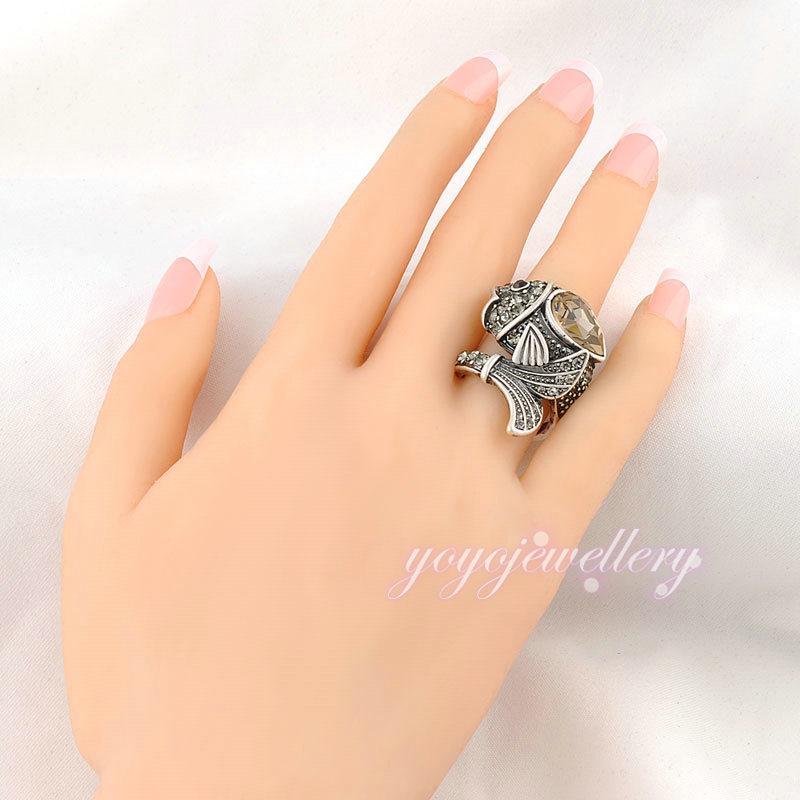 Cute Fish Boy Big Stone Design New Gold Ring Models For Men - Buy ...