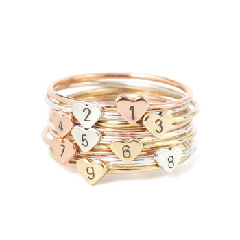 Cheap Wholesale Jewelry Fashion Statement Finger Men Women Heart Geometric Custom Letter 14k Gold Plated Stainless Steel Ring