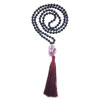 black agate spiritual amethyst yoga mala beads necklace jewelry manufacturer supplier wholesale