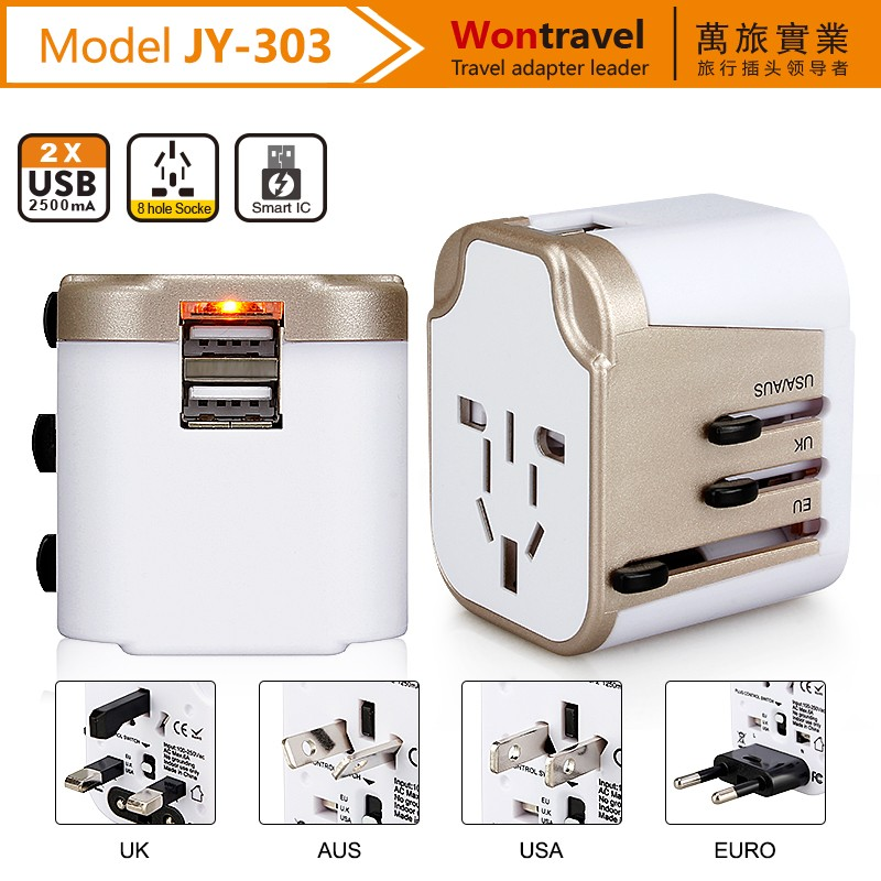 Hot-selling customized LOGO travel adaptor AC DC power USB gadget <strong>adapter</strong> for mobile phone accessories galaxy charger