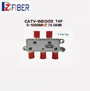 China Factory Supplier Indoor 4 Way 5-1000MHz RF CATV Cable Tap And Splitter