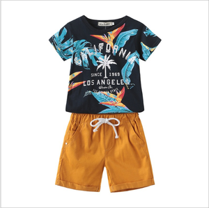 new wholesale summer children clothing set for boy