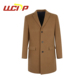 Chinese suppliers classic design custom winter tweed jacket cashmere overcoat long coats for men