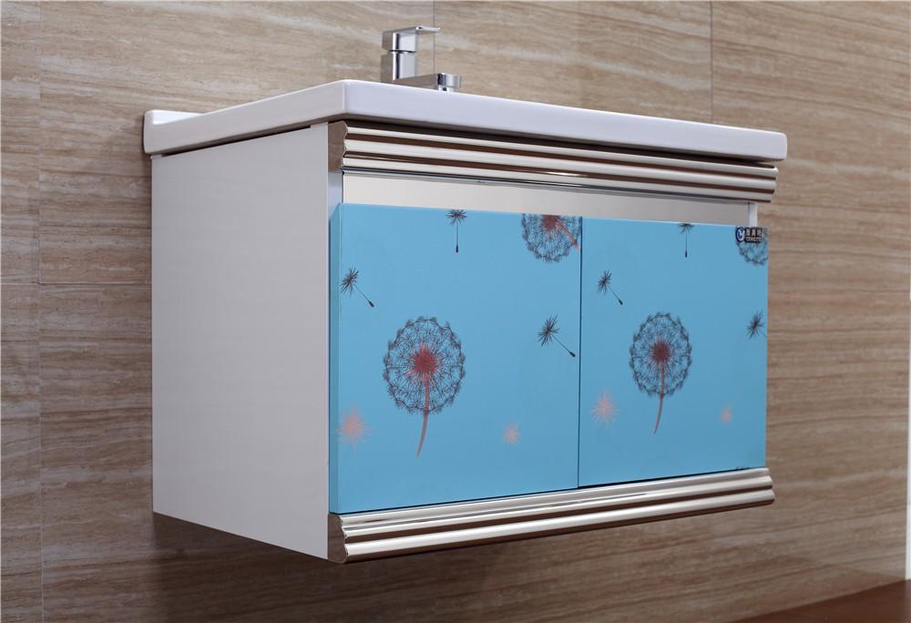 Country style bagno in acciaio inox lavabo vanità armadietto id ...