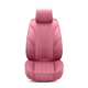 High Quality Waterproof SGS Certified PU Leather Seat Cover For Car Lovely Pink Comfortable Car Seat Cover