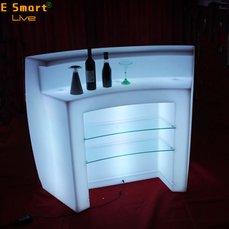 PE materials led chair/led bar counter/cyber cafe furniture, disco furniture CE UL ROHSCafe Bar Counter DesignLed Furniture