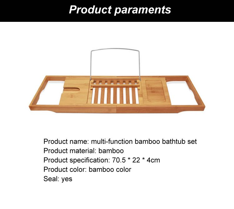 Modern design bamboo bath caddy / bamboo bathtub caddy tray / bathroom phone holder
