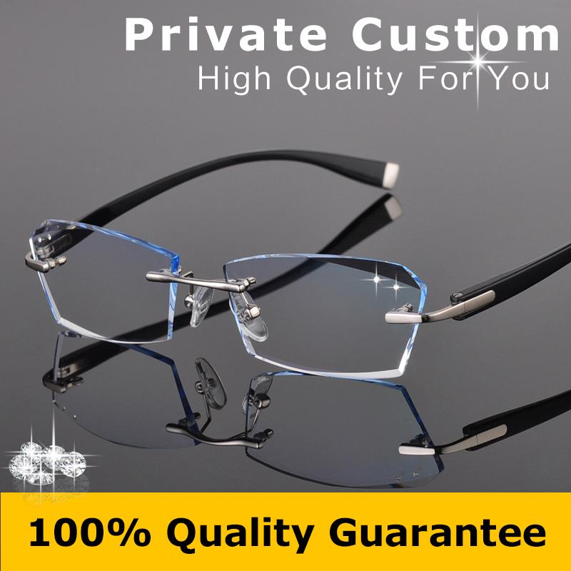 3962db193c Super Toughness TR Frame Eyeglasses Man Myopic Prescription Glasses High  Clear Leans Reading Glasses Rimless Eye