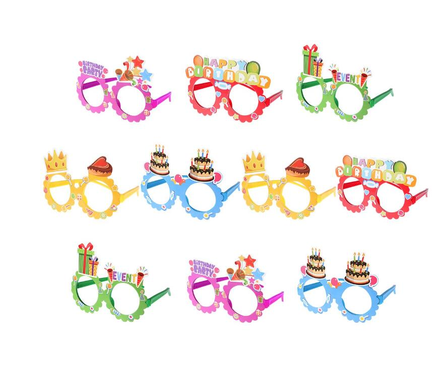 Party Eyeglasses Happy Birthday Glasses 20 Pack Kids Novelty Eyeglasses Frames Birthday Party Supplies Photo Booth Prop Holiday