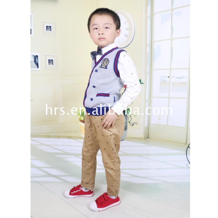 100% Cotton Sleeveless Waistcoat To Knit Baby Boys Sweater Vest ...