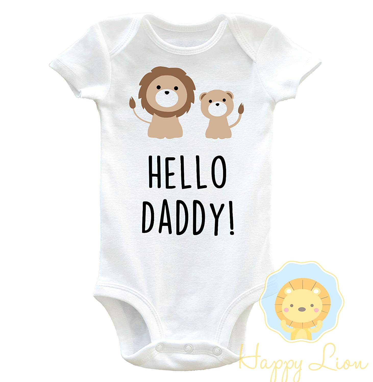 879a5d271 Happy Lion Clothing - Hello Daddy Onesie®, Hello Daddy Onesie® Announcement,  Pregnancy