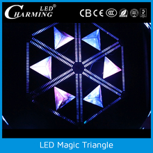 hot selling easy to assemble led light magic triangle video for night club/bar/disco