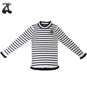 Winter Fancy Cute New Design Striped Pullover Girls  Knit Sweater for Baby Girl