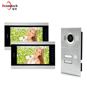 Two Way Intercom Record Memory 2 Apartment Video Door Phone Intercom 2 Wire Video Intercom System