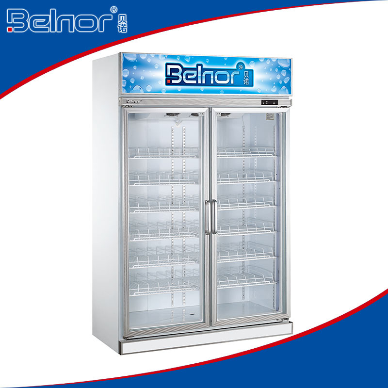 PG1.2L2W/Factory outlet supermarket stainless steel glass door refrigerator