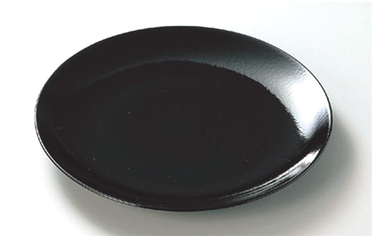 BANKO-YAKI YUZU-TENMOKU JIKI Japanese traditional Porcelain Large Plate made in JAPAN