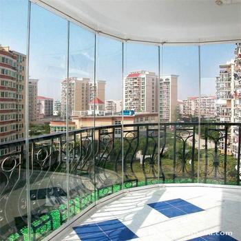 Frameless Lowe Glass Interior Folding Door Commercial Position Bi ...