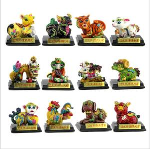 Resin 12 chinese zodiac animals sign figurine