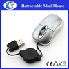 Wired USB optical retractable mouse