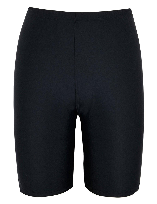 Firpearl Womens Swim Shorts Drawstring UPF50 Swim Capris Board Shorts Swimsuit Bottom