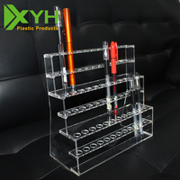 Stationer's shop acrylic pen display stand perspex pen holder for 36 pens