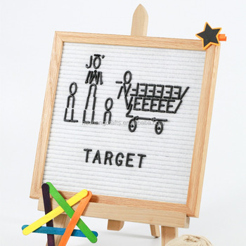 10x10`` Oak Frame White Felt Letterboard With Easel - Buy Letter ...