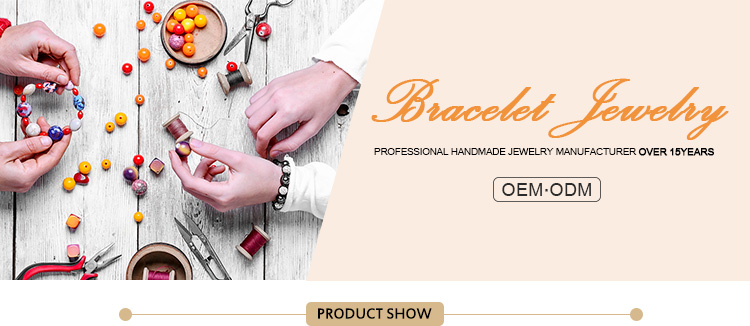 Best seller adjustable black custom alphabet letter beads & metal accessory braided bracelet